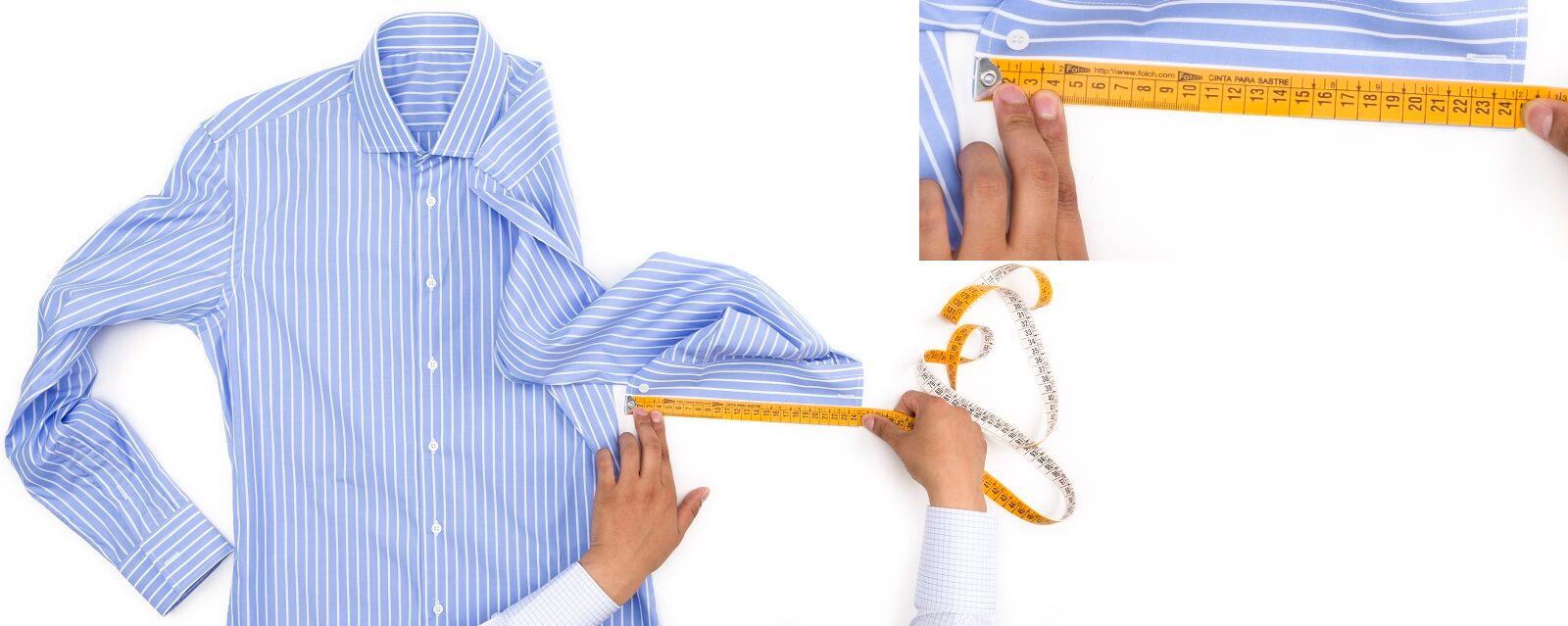 Como medir el puno de una camisa