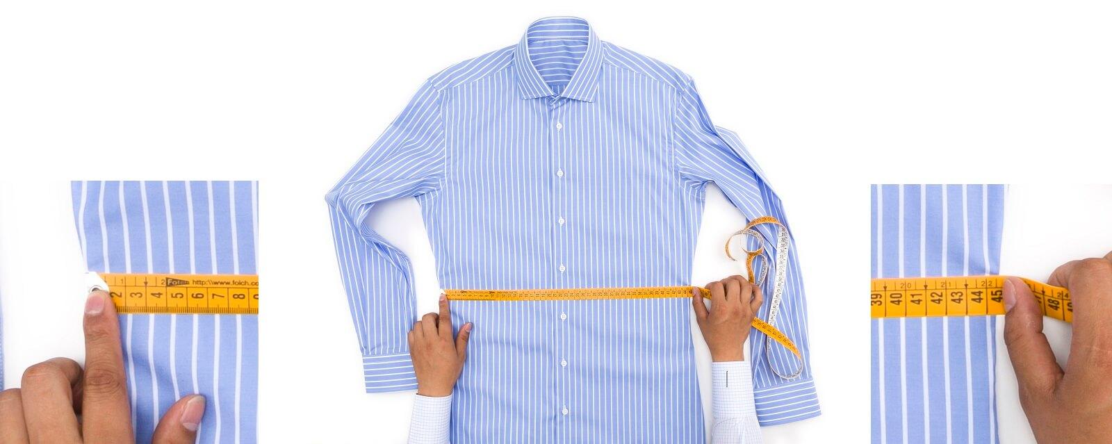 Como se mide la cintura de una camisa
