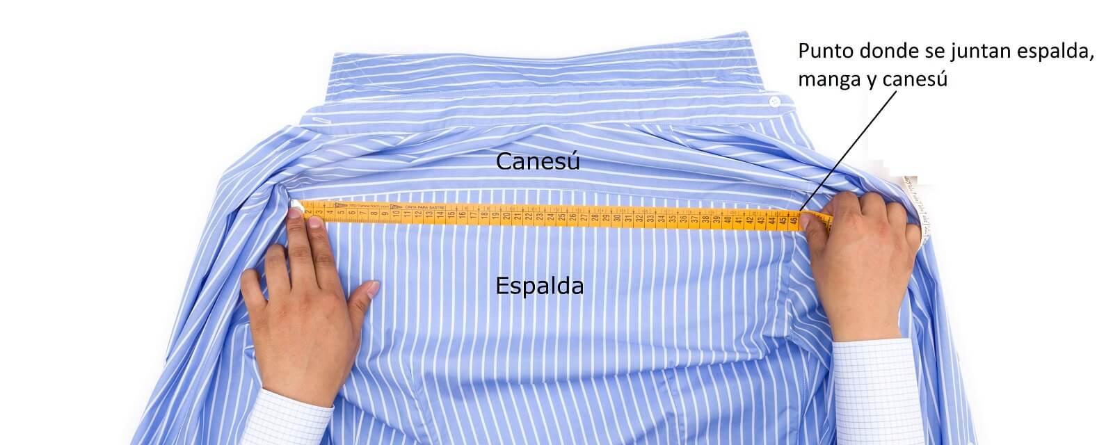 Como se mide la espalda de una camisa