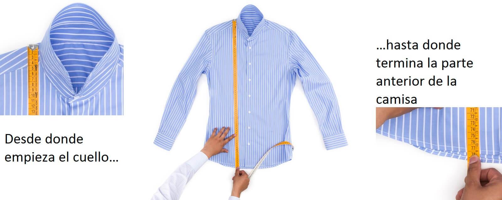 Como medir el largo de una camisa
