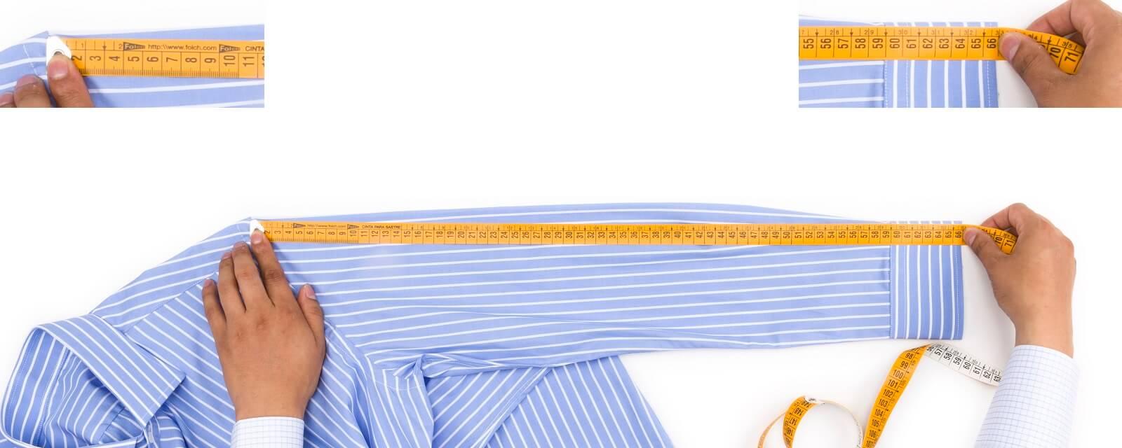 Como medir el largo de manga de una camisa