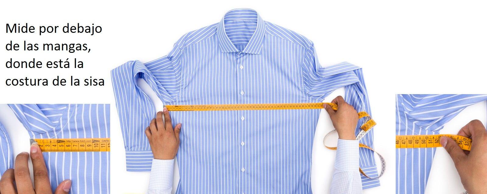 Como medir el pecho de una camisa